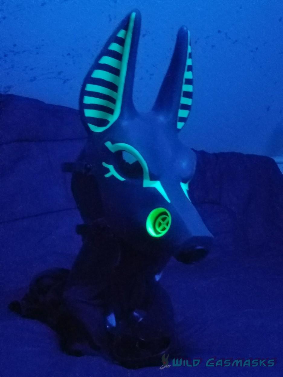UV Green Godpaint Jackal 2 - Quarter View (in the UV Light)