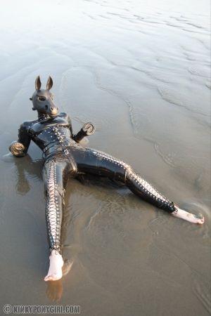 Kinkyponygirl Laying Upon The Beach