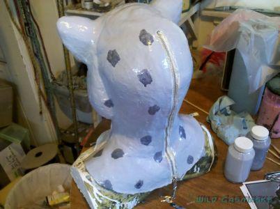 Snow Leopard in Progress - Rosettes on Back